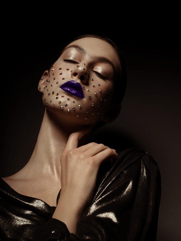 Swarovski make up, beauty shoot by Jana Anhalt